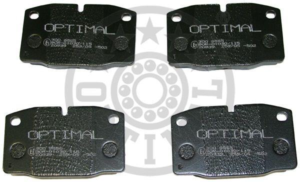 Kit de plaquettes de frein, frein à disque - OPTIMAL - 9565