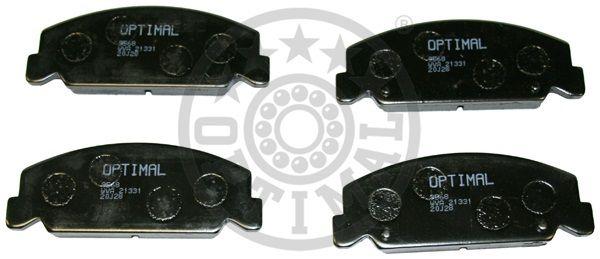 Kit de plaquettes de frein, frein à disque - OPTIMAL - 9568