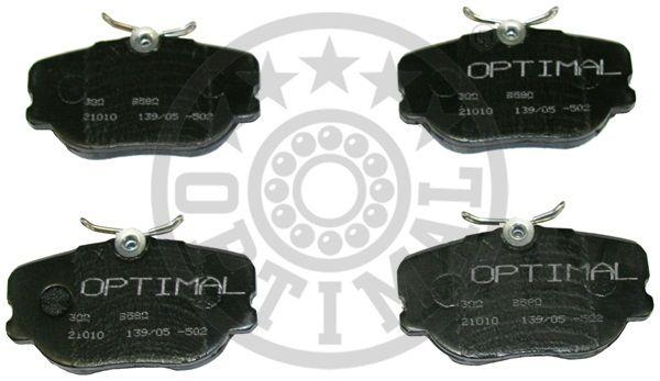 Kit de plaquettes de frein, frein à disque - OPTIMAL - 9580