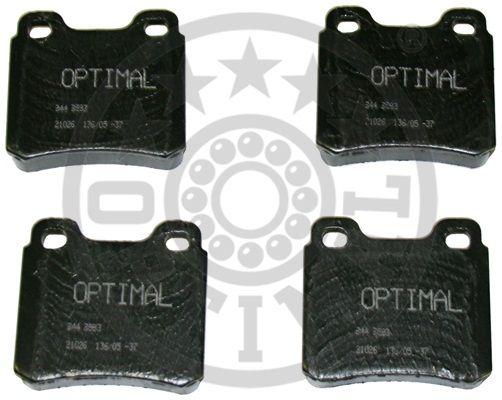 Kit de plaquettes de frein, frein à disque - OPTIMAL - 9583