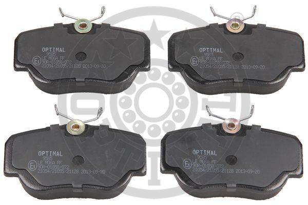 Kit de plaquettes de frein, frein à disque - OPTIMAL - 9585
