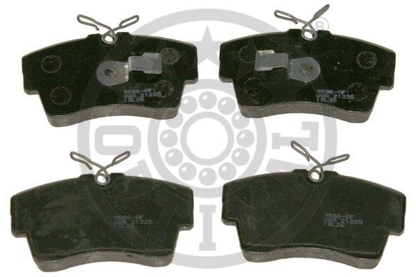Kit de plaquettes de frein, frein à disque - OPTIMAL - 9586