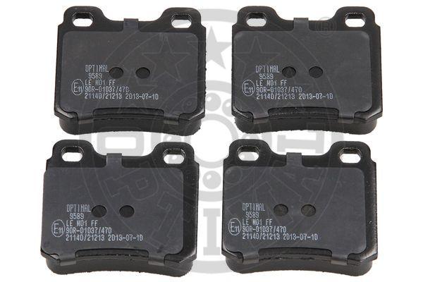 Kit de plaquettes de frein, frein à disque - OPTIMAL - 9589
