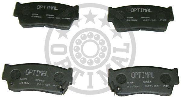 Kit de plaquettes de frein, frein à disque - OPTIMAL - 9592