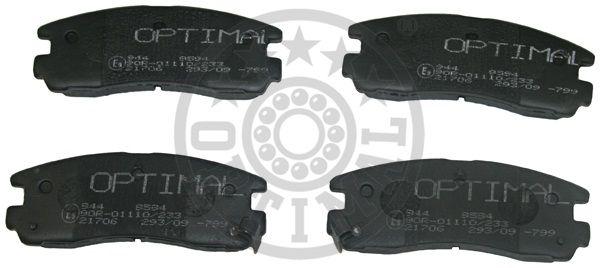 Kit de plaquettes de frein, frein à disque - OPTIMAL - 9594