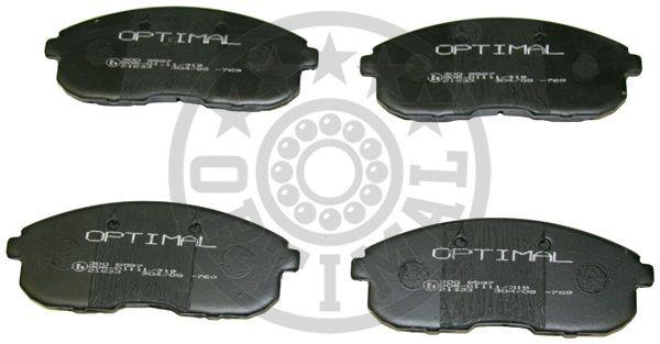 Kit de plaquettes de frein, frein à disque - OPTIMAL - 9597