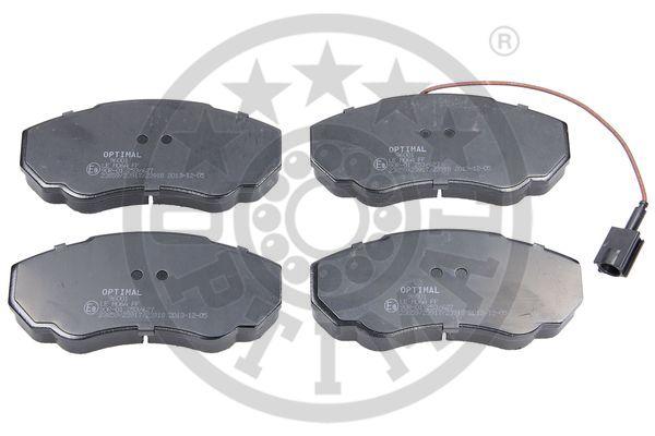 Kit de plaquettes de frein, frein à disque - OPTIMAL - 96001