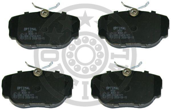 Kit de plaquettes de frein, frein à disque - OPTIMAL - 9600