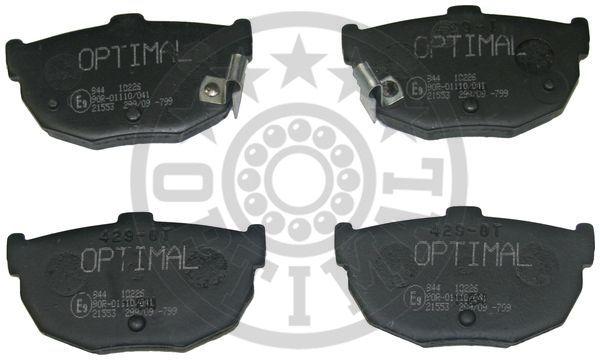 Kit de plaquettes de frein, frein à disque - OPTIMAL - 9603