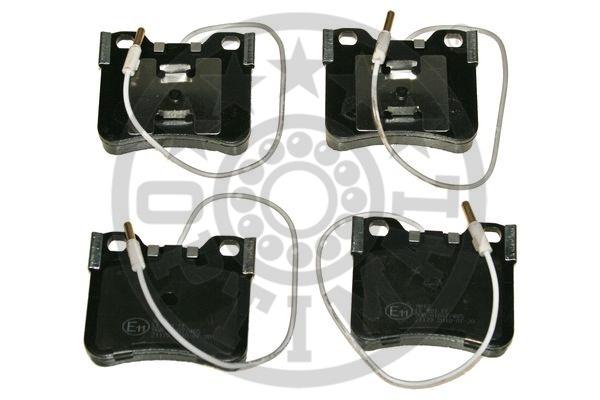 Kit de plaquettes de frein, frein à disque - OPTIMAL - 9612