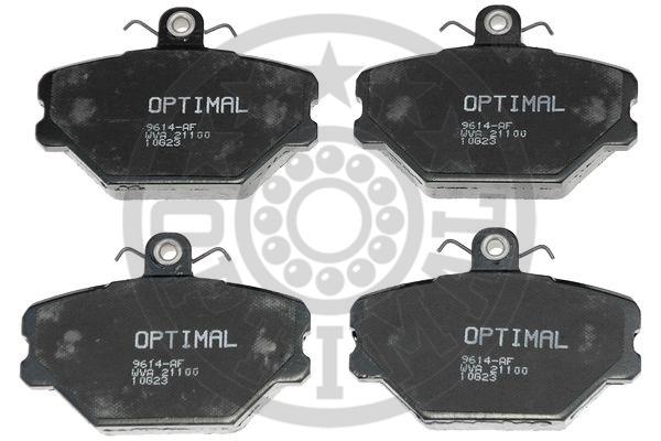 Kit de plaquettes de frein, frein à disque - OPTIMAL - 9614