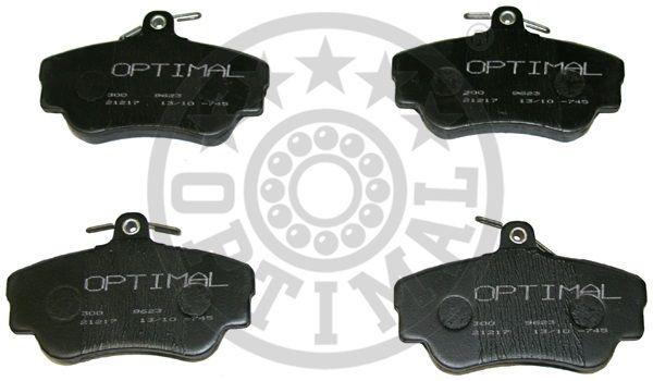 Kit de plaquettes de frein, frein à disque - OPTIMAL - 9623