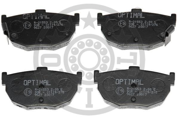 Kit de plaquettes de frein, frein à disque - OPTIMAL - 9627