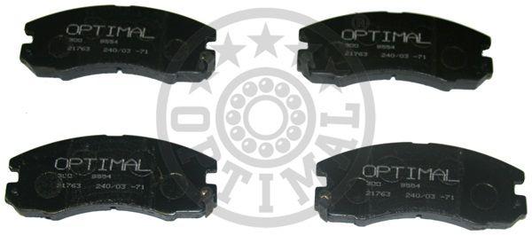 Kit de plaquettes de frein, frein à disque - OPTIMAL - 9633
