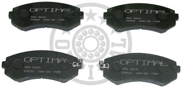 Kit de plaquettes de frein, frein à disque - OPTIMAL - 9634