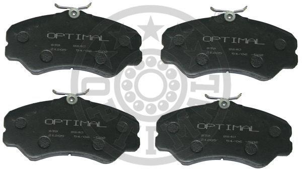 Kit de plaquettes de frein, frein à disque - OPTIMAL - 9640