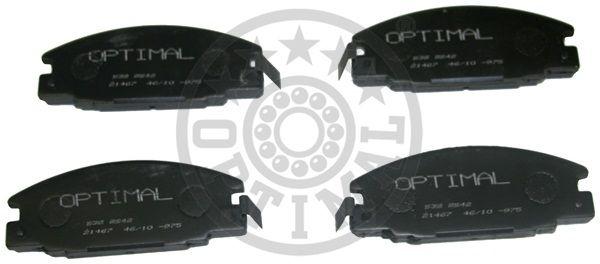 Kit de plaquettes de frein, frein à disque - OPTIMAL - 9642