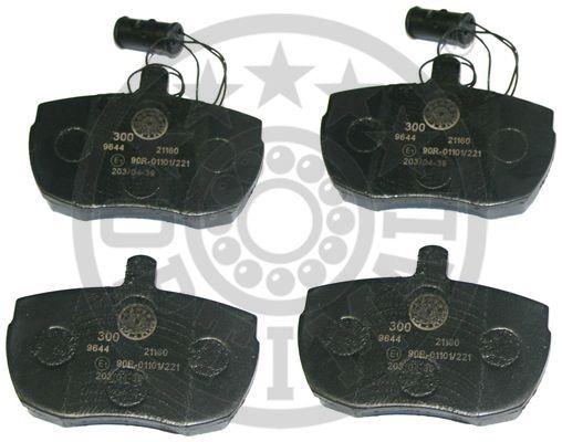 Kit de plaquettes de frein, frein à disque - OPTIMAL - 9644