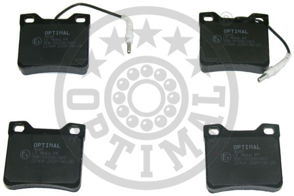Kit de plaquettes de frein, frein à disque - OPTIMAL - 9649