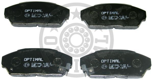 Kit de plaquettes de frein, frein à disque - OPTIMAL - 9652