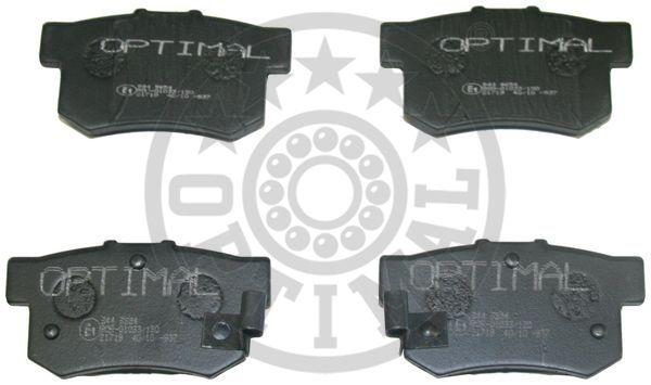 Kit de plaquettes de frein, frein à disque - OPTIMAL - 9654