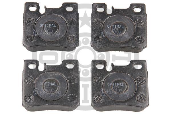 Kit de plaquettes de frein, frein à disque - OPTIMAL - 9657