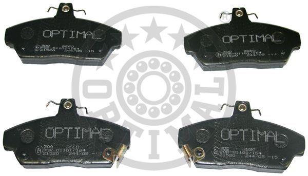 Kit de plaquettes de frein, frein à disque - OPTIMAL - 9660