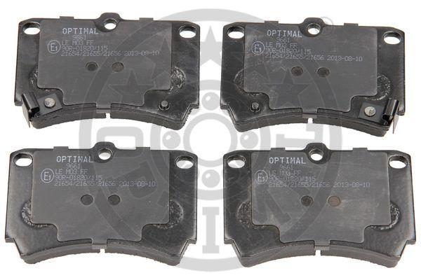 Kit de plaquettes de frein, frein à disque - OPTIMAL - 9661