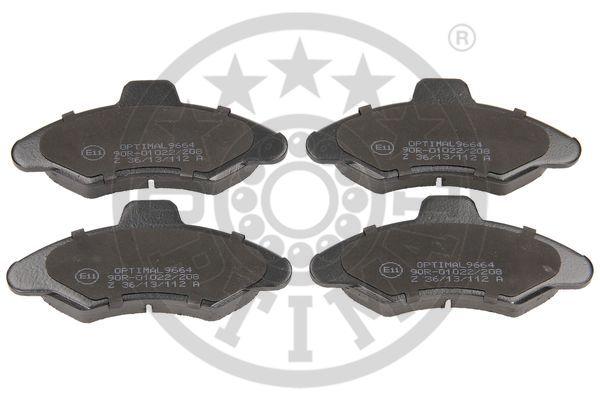 Kit de plaquettes de frein, frein à disque - OPTIMAL - 9664