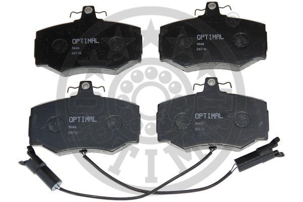 Kit de plaquettes de frein, frein à disque - OPTIMAL - 9666