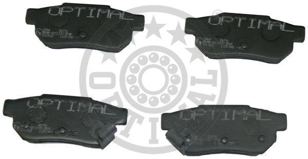 Kit de plaquettes de frein, frein à disque - OPTIMAL - 9672