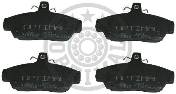 Kit de plaquettes de frein, frein à disque - OPTIMAL - 9674