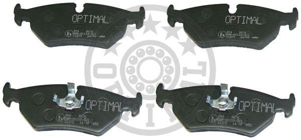Kit de plaquettes de frein, frein à disque - OPTIMAL - 9676
