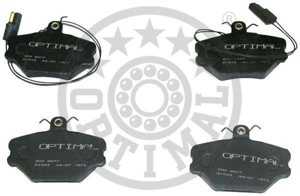 Kit de plaquettes de frein, frein à disque - OPTIMAL - 9677