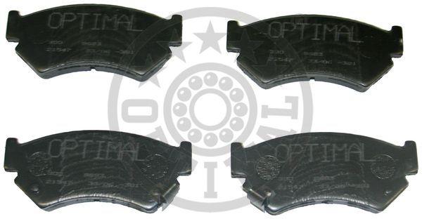Kit de plaquettes de frein, frein à disque - OPTIMAL - 9683
