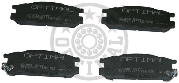 Kit de plaquettes de frein, frein à disque - OPTIMAL - 9687