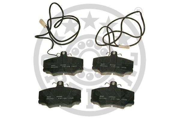 Kit de plaquettes de frein, frein à disque - OPTIMAL - 9688