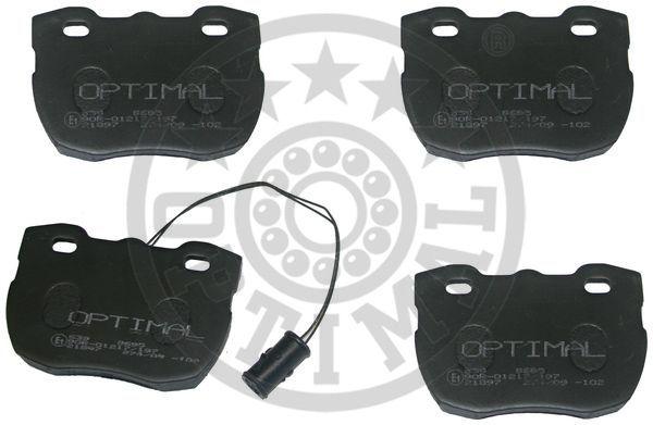 Kit de plaquettes de frein, frein à disque - OPTIMAL - 9695