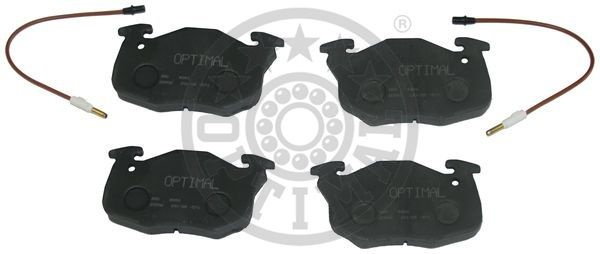Kit de plaquettes de frein, frein à disque - OPTIMAL - 9696