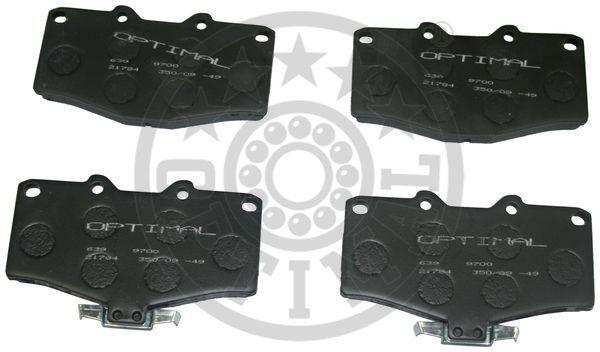 Kit de plaquettes de frein, frein à disque - OPTIMAL - 9700