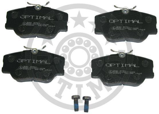 Kit de plaquettes de frein, frein à disque - OPTIMAL - 9701