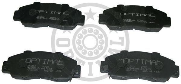 Kit de plaquettes de frein, frein à disque - OPTIMAL - 9708