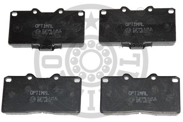 Kit de plaquettes de frein, frein à disque - OPTIMAL - 9712