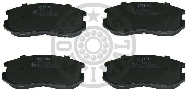 Kit de plaquettes de frein, frein à disque - OPTIMAL - 9714