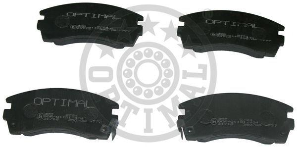 Kit de plaquettes de frein, frein à disque - OPTIMAL - 9724