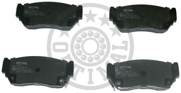 Kit de plaquettes de frein, frein à disque - OPTIMAL - 9725