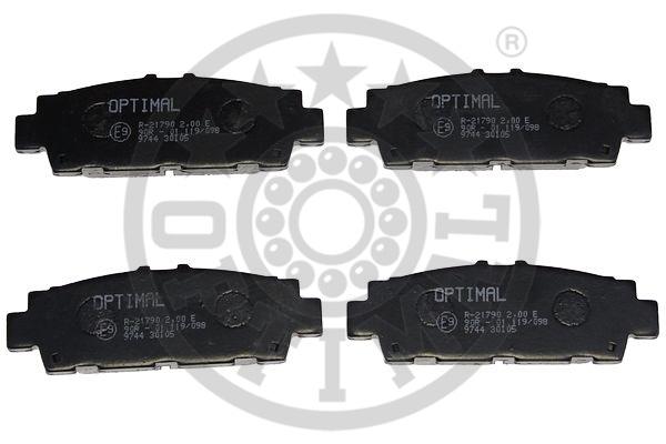Kit de plaquettes de frein, frein à disque - OPTIMAL - 9744