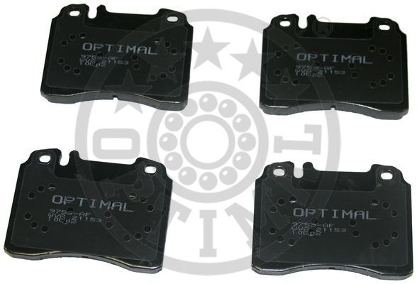 Kit de plaquettes de frein, frein à disque - OPTIMAL - 9753
