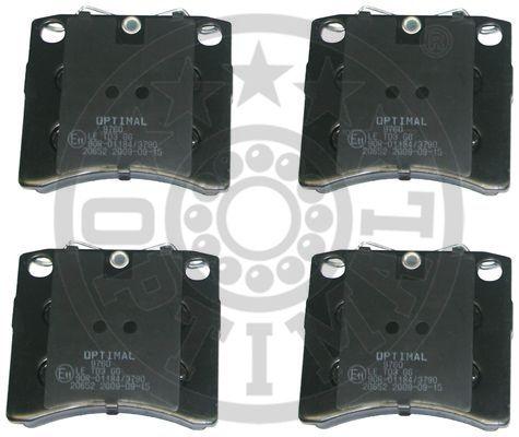 Kit de plaquettes de frein, frein à disque - OPTIMAL - 9760