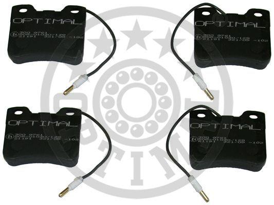 Kit de plaquettes de frein, frein à disque - OPTIMAL - 9761